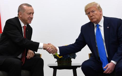 Реджеп Тайип Эрдоган (слева) и Дональд Трамп