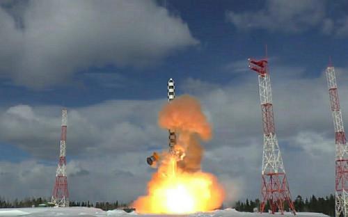 <p>Межконтинентальная баллистическая ракета &laquo;Сармат&raquo;</p>