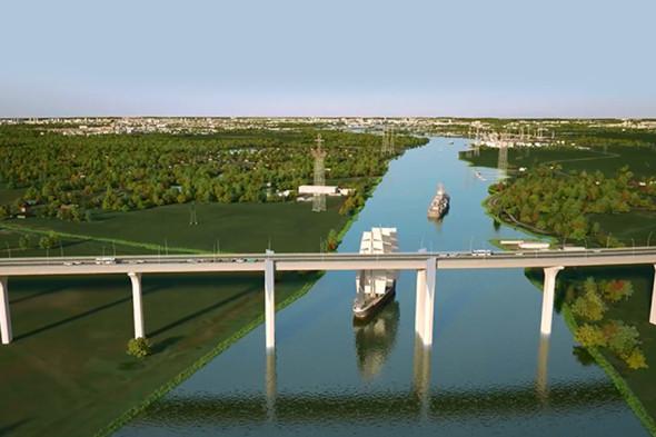 Концепция моста через Калининградский залив