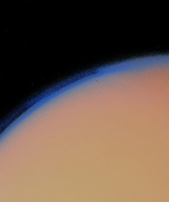 Крупнейший спутник Сатурна Титан. 12 ноября 1980 года