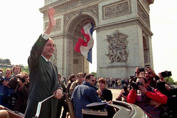 Жак Ширак в мае 1995 года, после победы на президентских выборах
