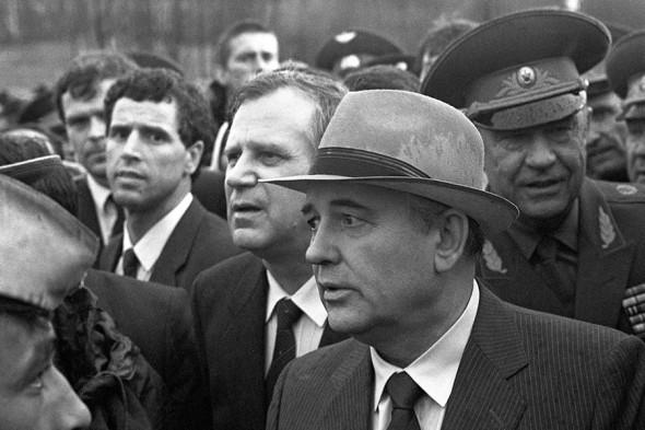 1989 год. Михаил Горбачев, Николай Рыжков и Дмитрий Язов