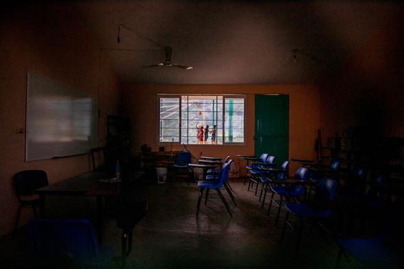 Закрытая школа в штате Чьяпас, Мексика, сентябрь 2020 года