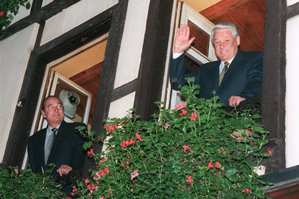 Жак Ширак и Борис Ельцин