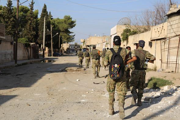Поддерживаемые Турцией сирийские формирования входят в сирийский Рас-аль-Айн