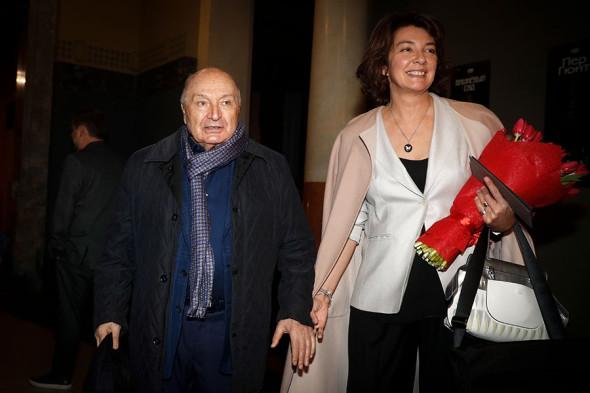 Жванецкий с супругой Натальей Суровой