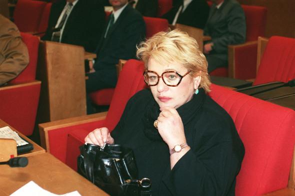 Галина Волчек в Госдуме, 1996 год