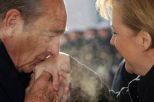 Жак Ширак и канцлер Германии Ангела Меркель, март 2006 года