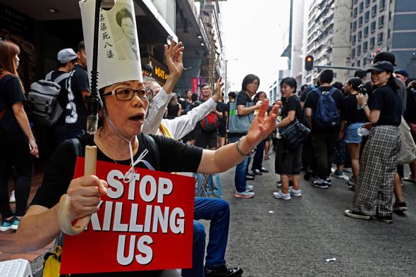 hong kong protest - 7 часов