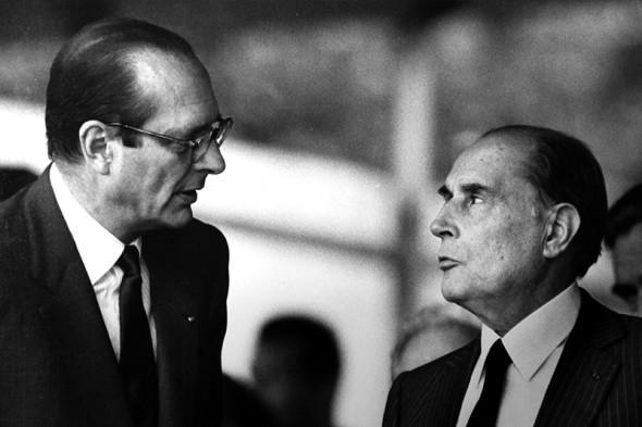 Жак Ширак и Франсуа Миттеран