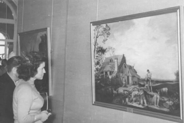 Ирина Антонова в галерее старых мастеров, Дрезден, 1950-е