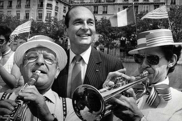 Жак Ширак во время открытия статуи Свободы в Париже в июне 1986 года