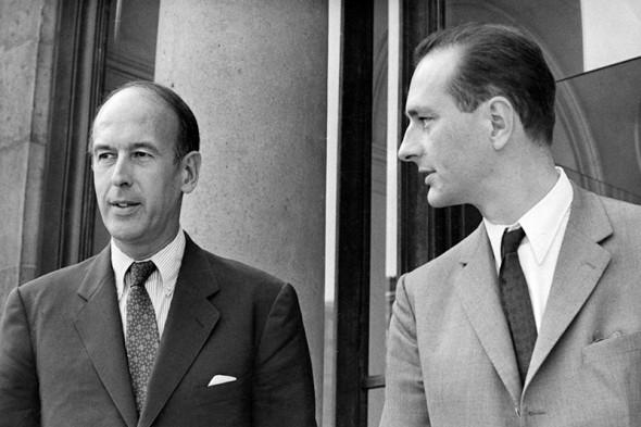 Валери Жискар д'Эстен (президент Пятой республики с 1974-го по 1981 год, слева)