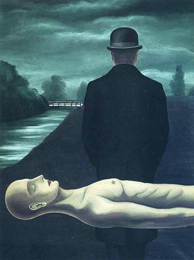 Рене Магритт. «Размышления одинокого прохожего», 1926