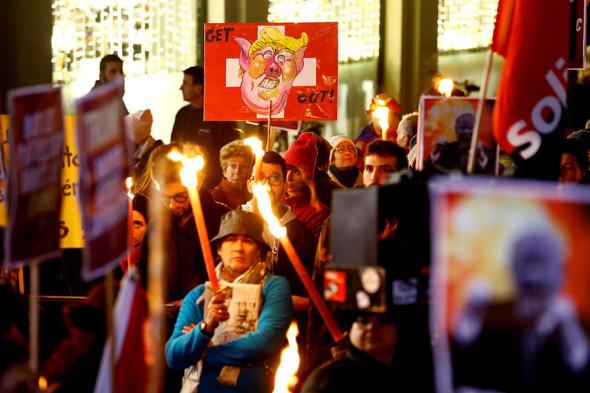 Протесты в Женеве