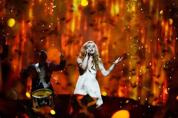 Победительница «Евровидения-2013» Эммили де Форест (Дания)