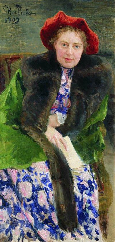 И.Е. Репин. «Портрет Н.Б. Нордман-Северовои»̆, 1909
