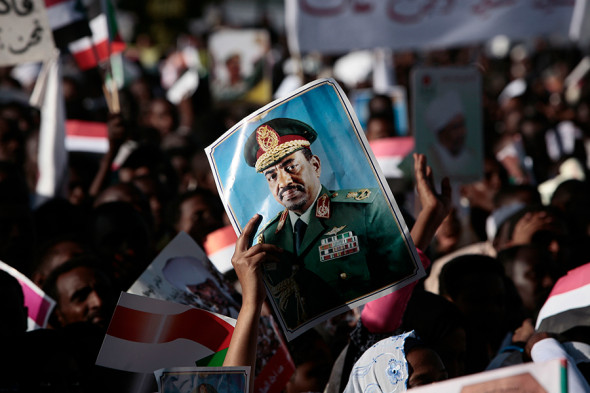 Демонстрация в Хартуме против решения Международного уголовного суда. 2009 год