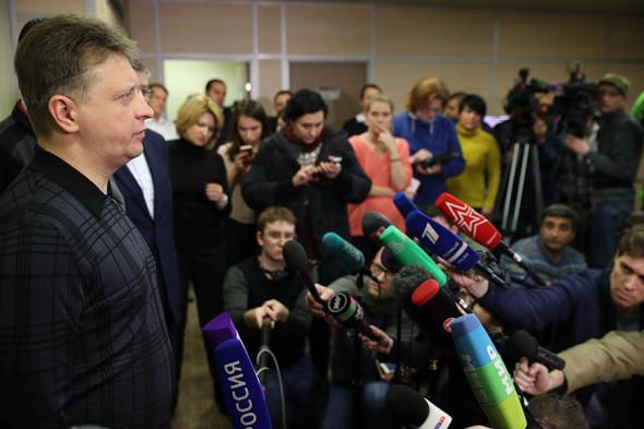 Министр транспорта России Максим Соколов в аэропорту Домодедово