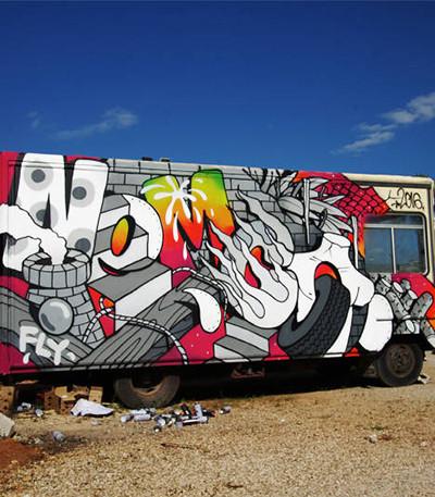 Работа итальянского граффити-райтера Nemco
