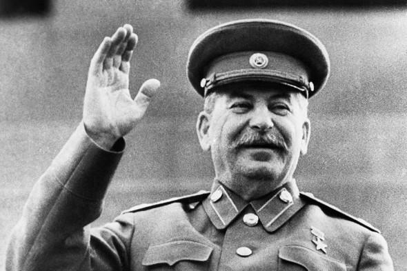 Иосиф Сталин на первомайском параде в 1946 году
