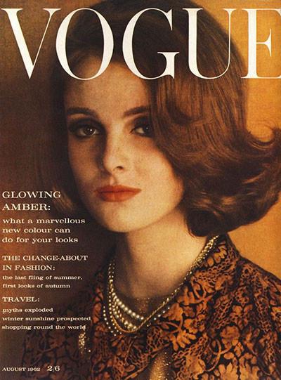 Грейс Коддингтон на обложке британского Vogue, август 1962