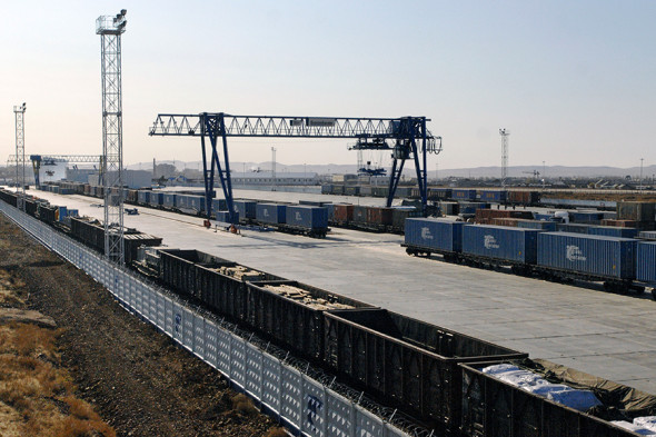 Территория грузового терминала ПАО «Трансконтейнер» на станции Забайкальск