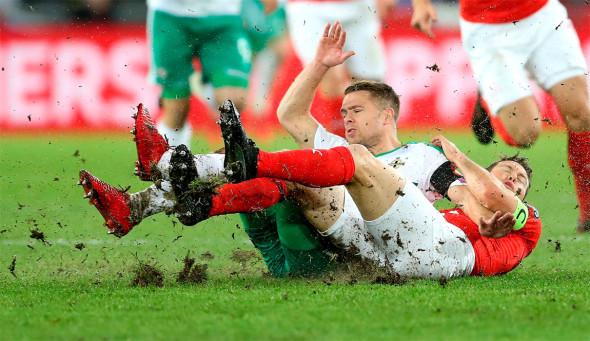 Швейцария, победа в стыковых матчах европейского турнира