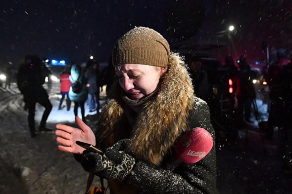 Журналист телеканала «Дождь» на месте крушения пассажирского самолета Ан-148, в котором погибла ее одноклассница