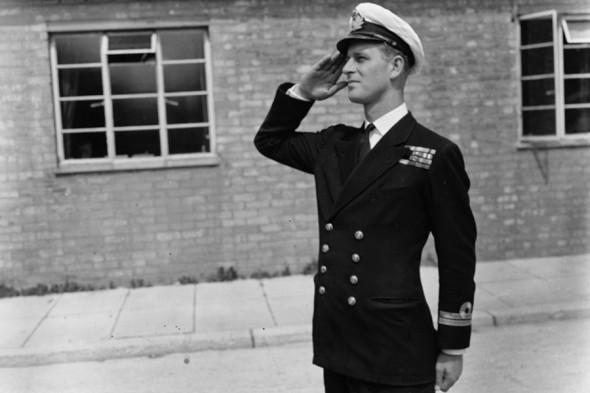 Филипп во время визита в Королевский военно-морской  колледж, 1947 год