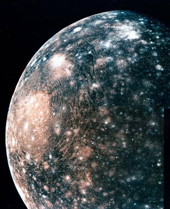 Кратер Вальхалла, расположенный на спутнике Юпитера Каллисто