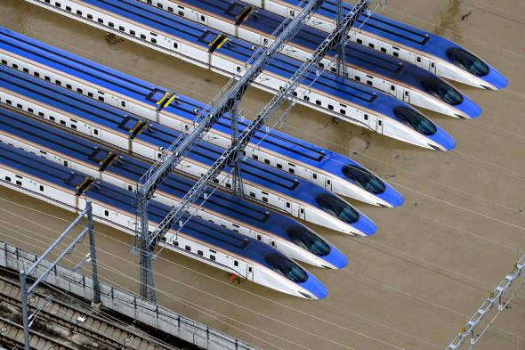 Поезда железнодорожной сети «Синкансэн» в Нагано