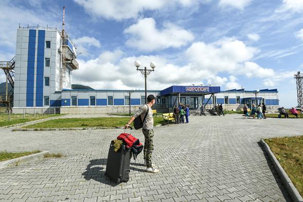 Аэропорт Южно-Курильск на острове Кунашир