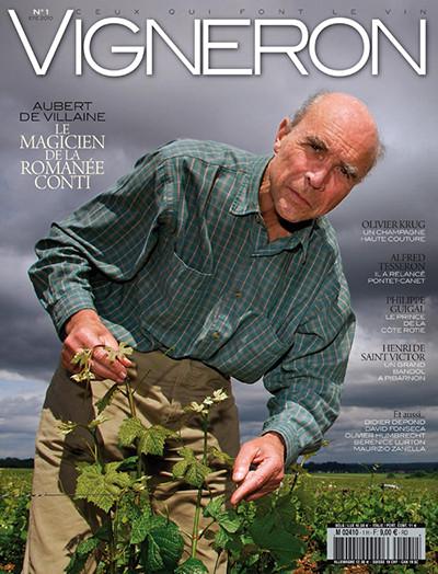 Обер де Вилен на обложка журнала Vigneron