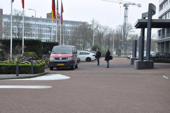 Окрестности здания ОЗХО в Гааге (по утверждению властей Нидерландов, фото с камеры Минина)