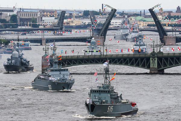Как в России отпраздновали День ВМФ. Фоторепортаж