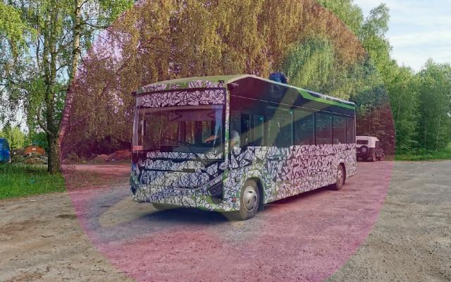 Закамуфлированный прототип нового электробуса ГАЗ заметили на тестах