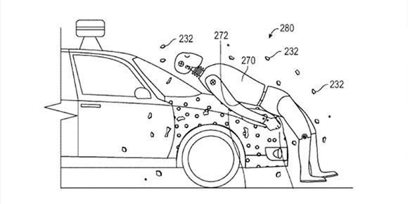 Корпорация Google, которая до недавнего времени вынашивала планы разработки собственного автомобиля, изобрела очень необычный безопасный капот. Вспомните, какими свойствами он обладал?