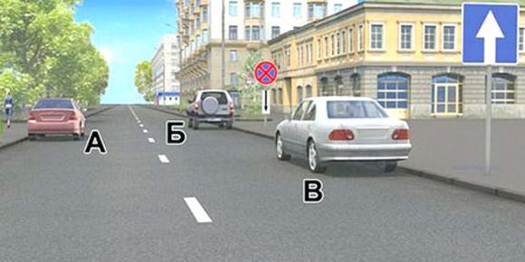 Закроем тему парковки: кто правильно остановился на этом рисунке?