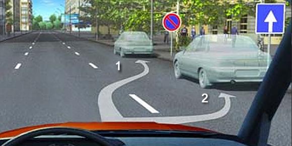 В каком из указанных мест разрешена стоянка автомобиля?