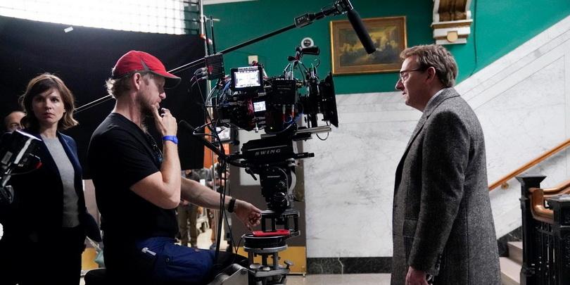 Снимается эпизод сериала «Зло» для CBS. В кадре — Майкл Эмерсон
