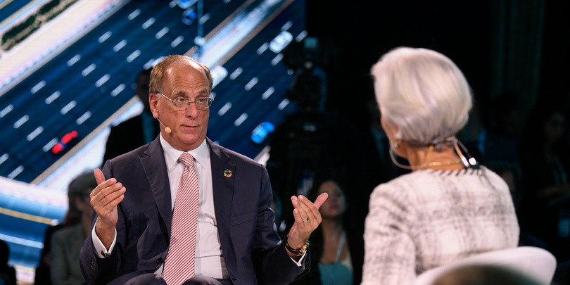 Гендиректор инвестиционной компании BlackRock Ларри Финк и глава МВФ Кристин Лагард