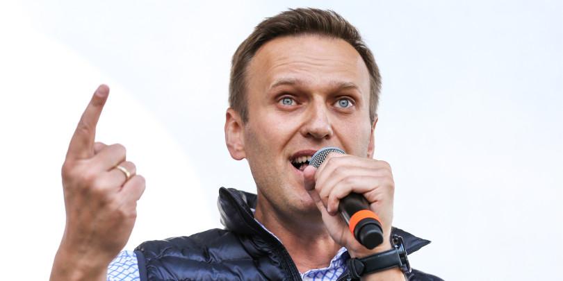 Алексей Навальный во время митинга за свободу интернета и в защиту мессенджера Telegram на проспекте Академика Сахарова. 2018 год