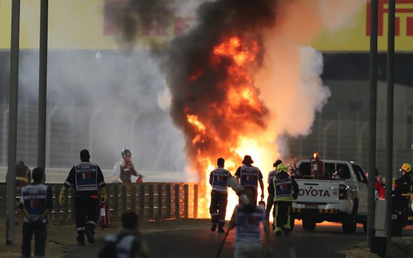 Гран-при Бахрейна остановили из-за страшной аварии с участием Квята