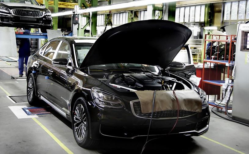 Kia начала производить в России новый седан K900