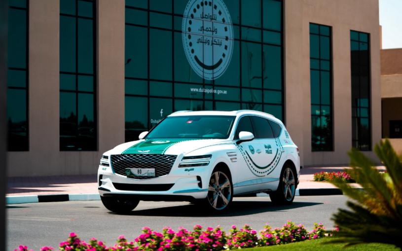 Кроссовер Genesis GV80 пополнил автопарк полиции Дубая