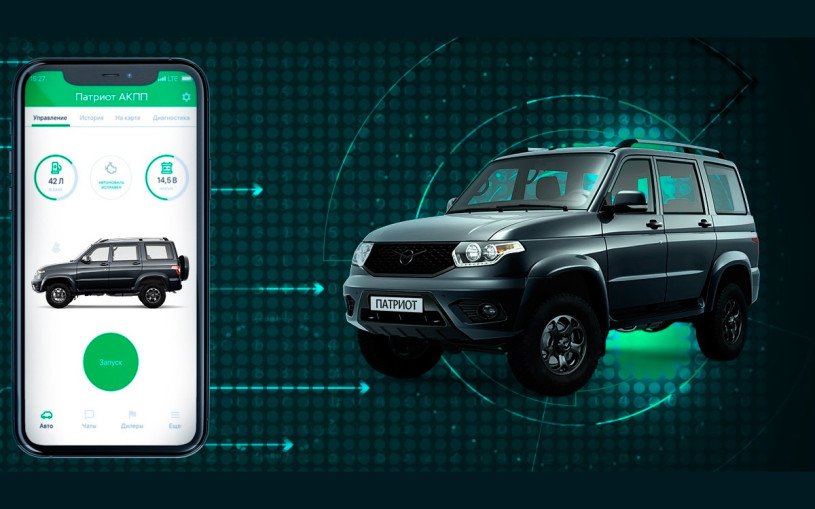 УАЗ назвал стоимость подключенных к смартфону автомобилей