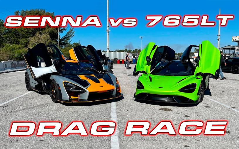 Два сверхмощных McLaren сразились в дрэге. Видео
