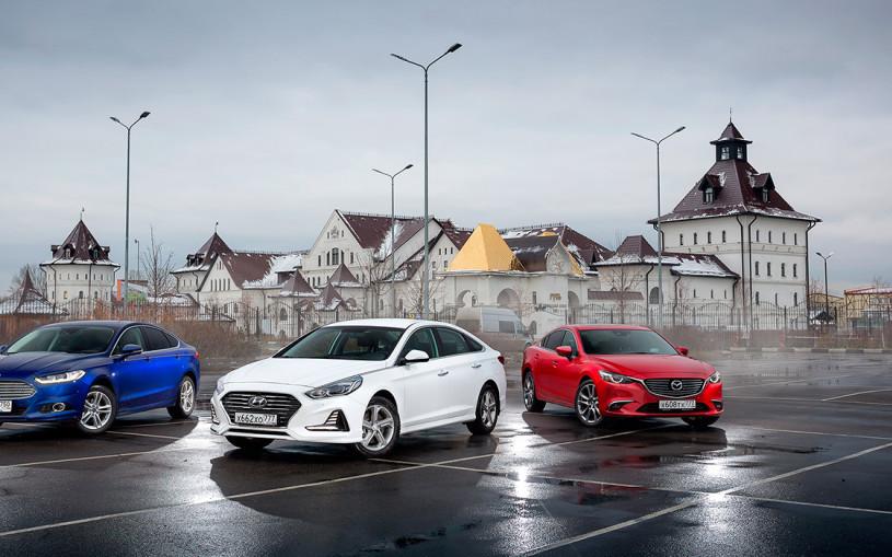 Триколор. Hyundai Sonata против Mazda6 и Ford Mondeo