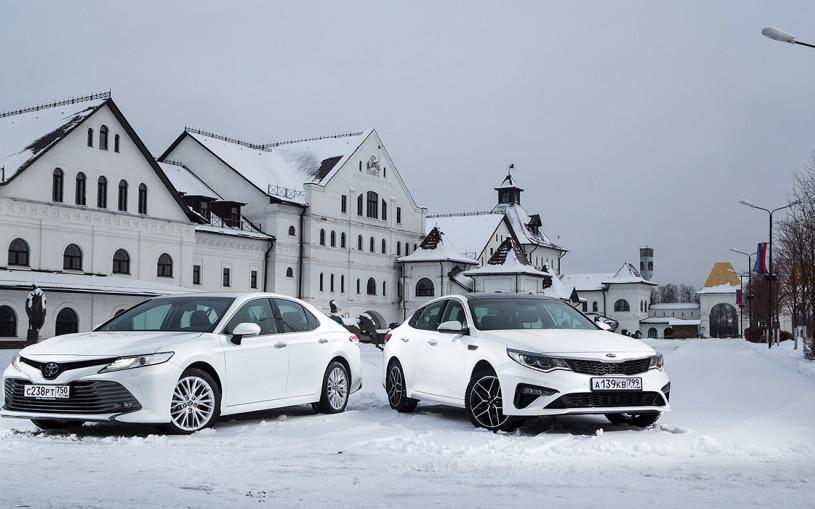 Деньги пришли. Toyota Camry против Kia Optima